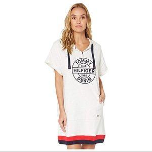 NWT Tommy Hilfiger Gray Short Sleeve Hoodie Dress